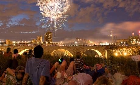 Minneapolis Riverfront Firework Show